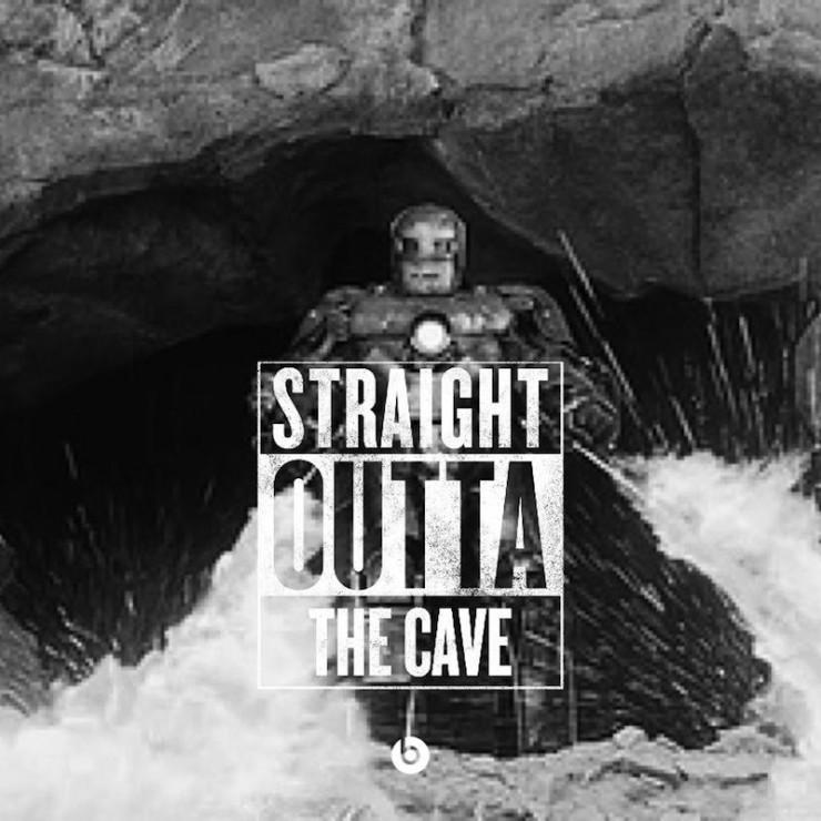 #StraightOutta geeky memes Iron Man the cave