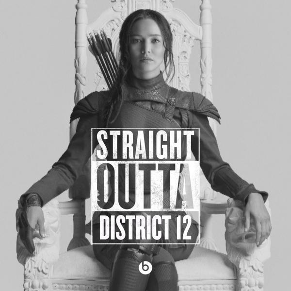 #StraightOutta geeky meme Katniss Everdeen District 12