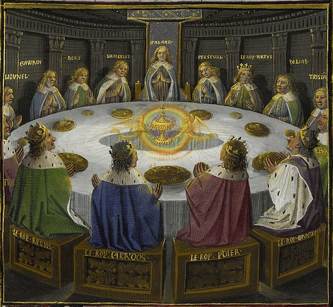 Holy Grail at the Round Table by Évrard d'Espinques