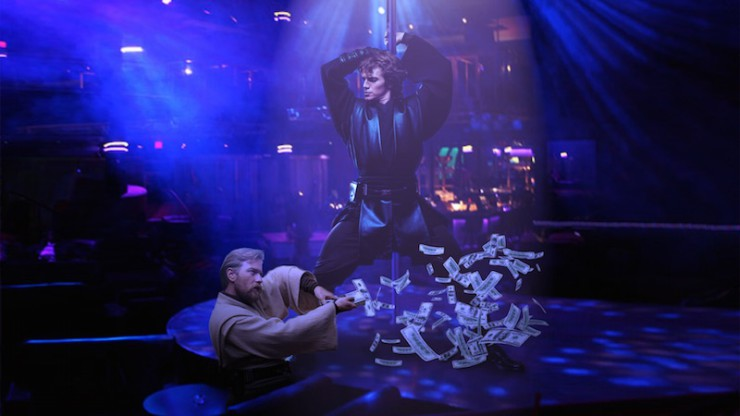 Anakin Skywalker Obi-Wan Kenobi best Photoshop ever strip club