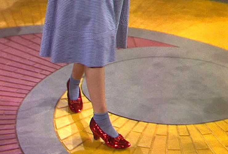 The Ruby Slippers in The Wizard of Oz