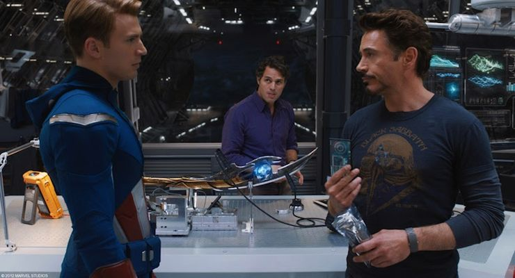Tony Stark, Bruce Banner, Steve Rogers, the Avengers, blueberries