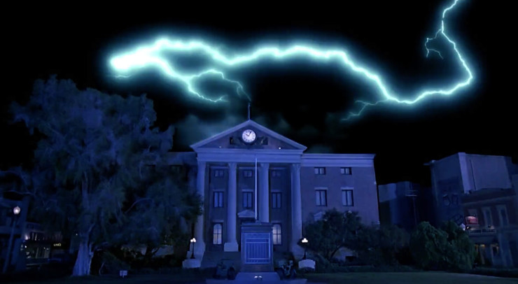 BTTF Clock Tower Lightning