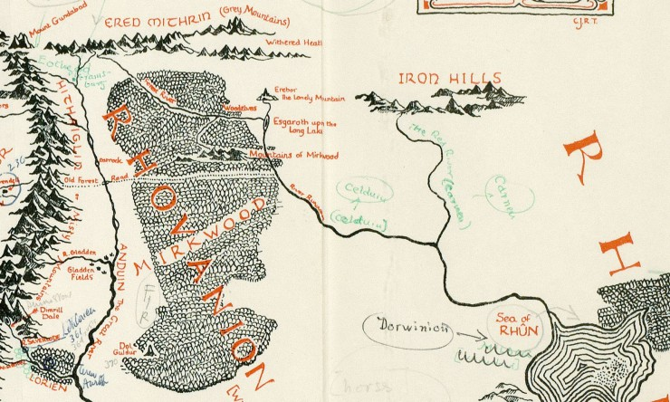 Tolkien Middle-earth annotated map