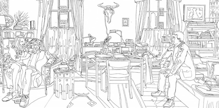 Sherlock: The Mind Palace coloring book pages
