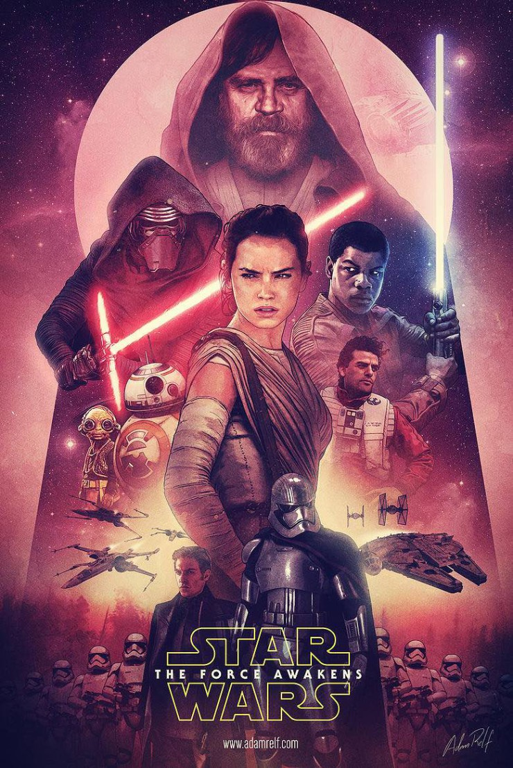 The Force Awakens pitch poster Adam Relf