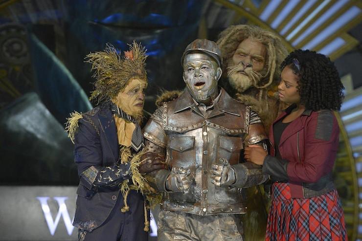 THE WIZ LIVE! -- Pictured: (l-r) Elijah Kelley as Scarecrow, Ne-Yo as Tin-Man, David Alan Grier as Lion, Shanice Williams as Dorothy -- (Photo by: Virginia Sherwood/NBC)