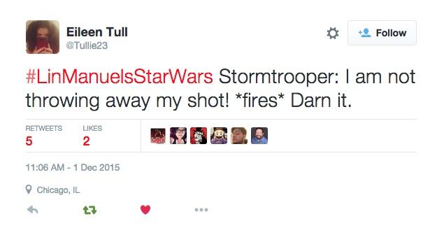#LinManuelsStarWars #Force4Ham tweets