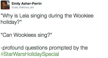 Star Wars Holiday Special live tweets