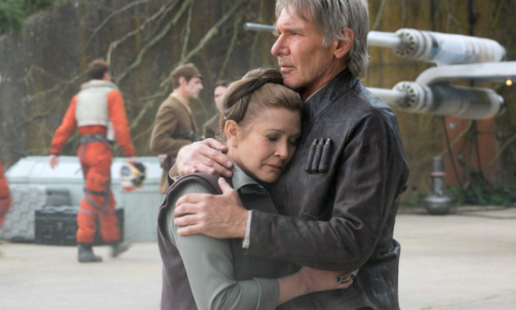 Han Leia The Force Awakens happily ever after not guaranteed love Star Wars universe