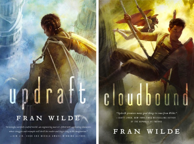 Updraft and Cloudbound series covers