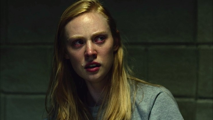 Karen Page crying