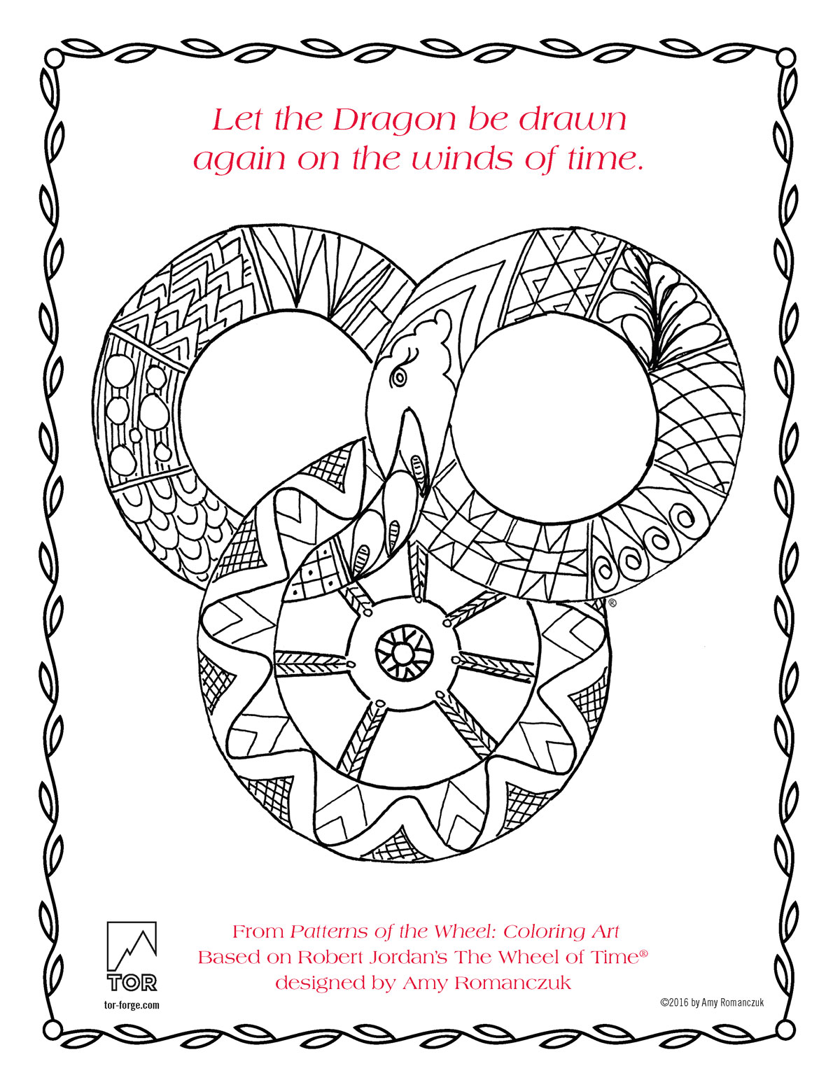 Patterns of the Wheel coloring art page