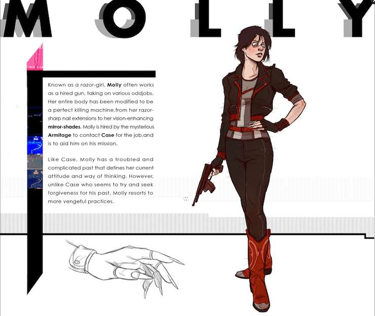 Molly Millions, Neuromancer, art by Nathan Anderson