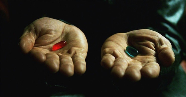 Αποτέλεσμα εικόνας για The Matrix take the red pill coy Baudrillard