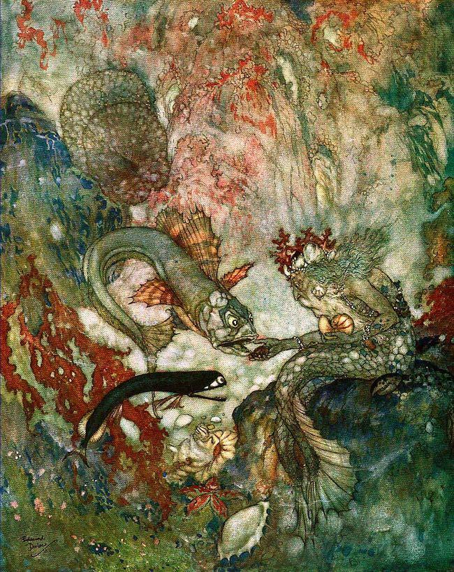 The Merman King, Art by Edward Dulac (1911)