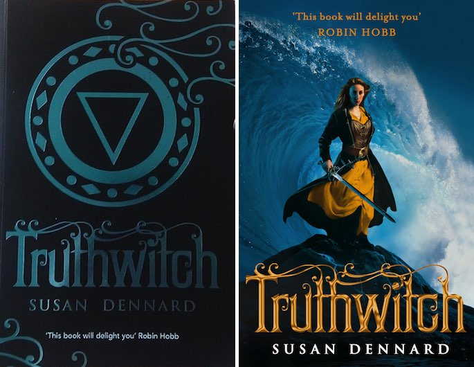 ARC and Hardback covers for Truthwitch