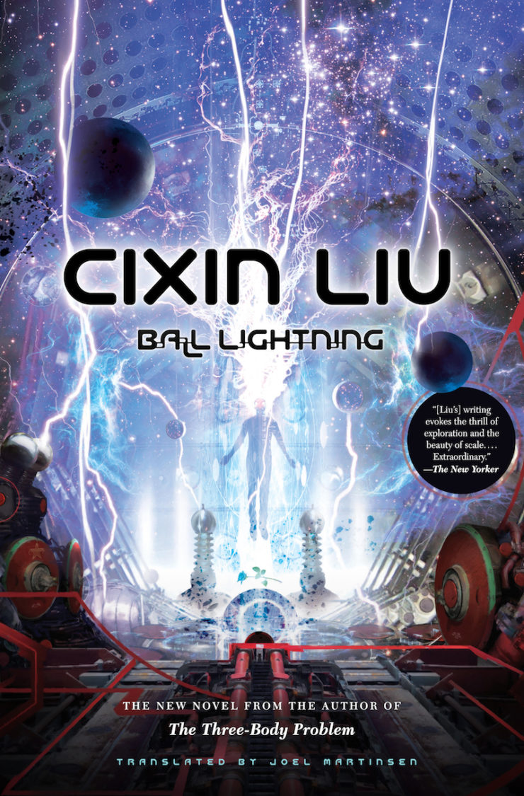 Ball Lightning Cixin Liu cover reveal Joel Martinsen military SF standalone Stephan Martiniere