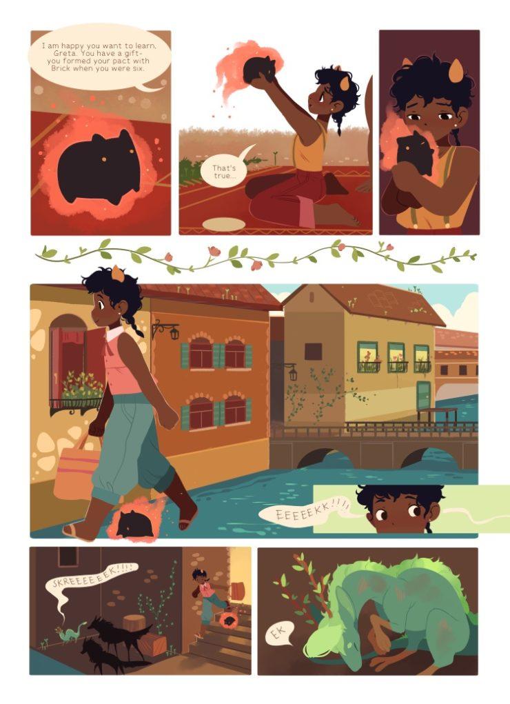 The Tea Dragon Society Katie O'Neill webcomic Oni Press