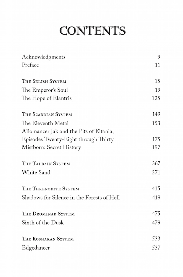 Arcanum Unbounded Table of Contents