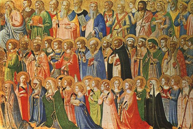 """The Forerunners of Christ with Saints and Martyrs"" by Fra Angelico (c.1423-4)"