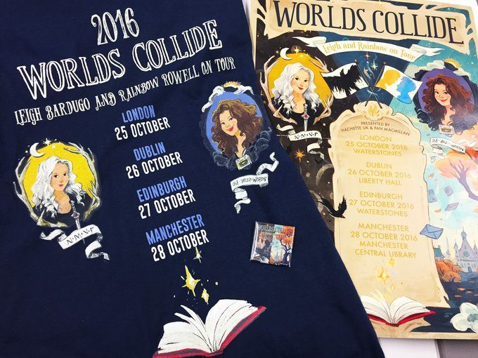 Leigh Bardugo, Rainbow Rowell tour swag 2016