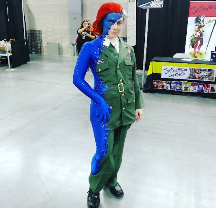 Mystique cosplay at New York Comic-Con