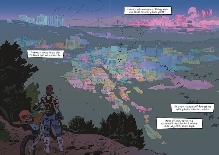 First Second Spill Zone graphic novel serial online Scott Westerfeld Alex Puvilland