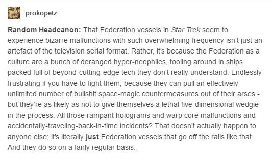 Star Trek Tumblr headcanon