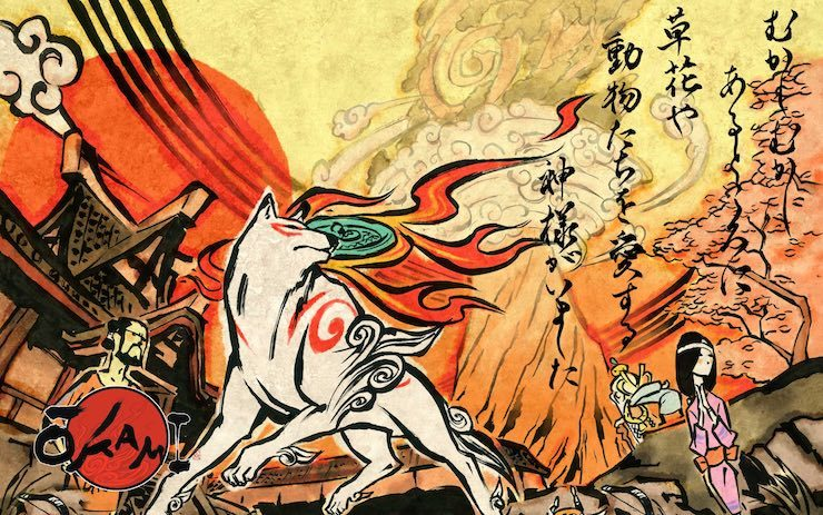 Promotional art for Okami