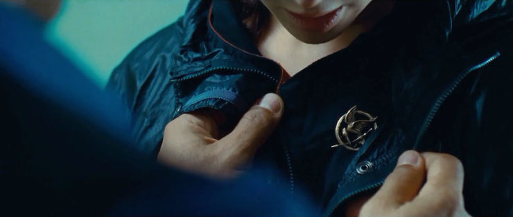 The Hunger Games mockingjay pin Katniss Everdeen