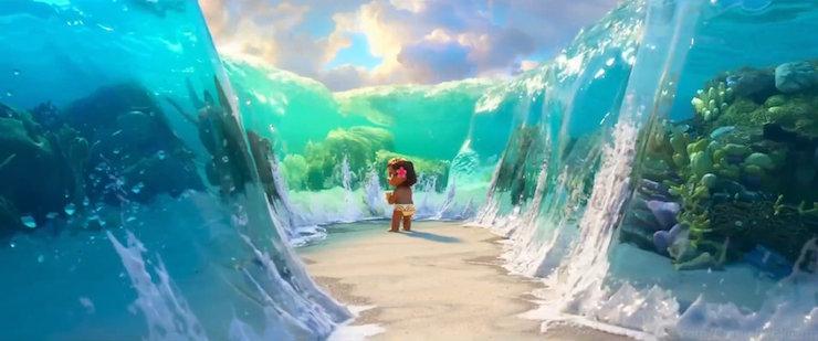 Disney Moana Background Island Beach Ocean