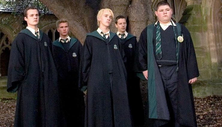 Draco Malfoy, Crabbe and Goyle, Harry Potter and the Goblet of Fire