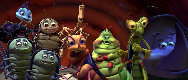 the circus bugs in Pixar's A Bug's Life