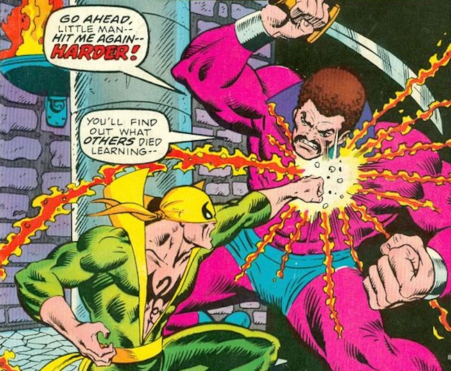 Iron Fist #7 (1976); Cover art by Ron Wilson