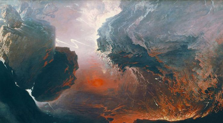 Detail of The Great Day of His Wrath by John Martin