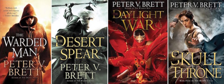 Peter V. Brett Demon Cycle book covers