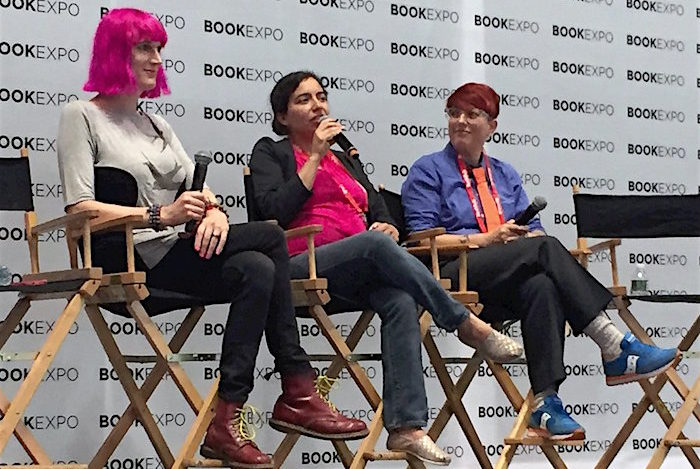 Charlie Jane Anders, Malka Older, and Annalee Newitz at BookExpo America