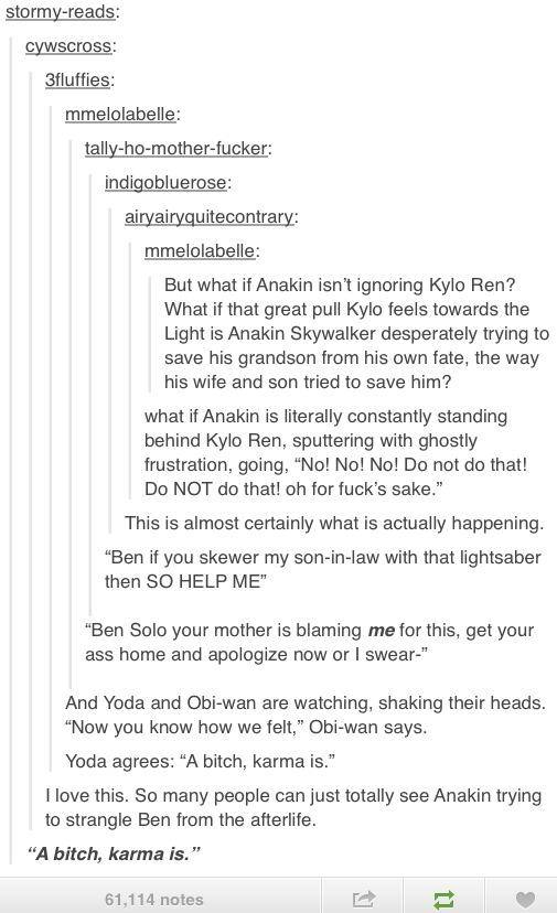 Kylo Ren and Anakin