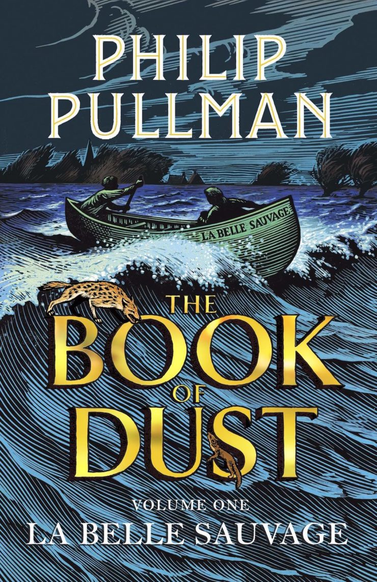 The Book of Dust Philip Pullman La Belle Sauvage book cover UK