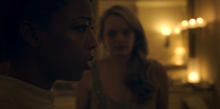 """The Handmaid's Tale 1x08 """"Jezebels"""" television review Moira Samira Wiley"""