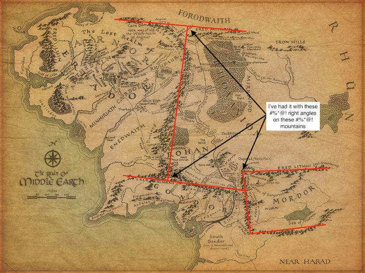 Tolkien's Map and The Messed Up Mountains of Middle-earth