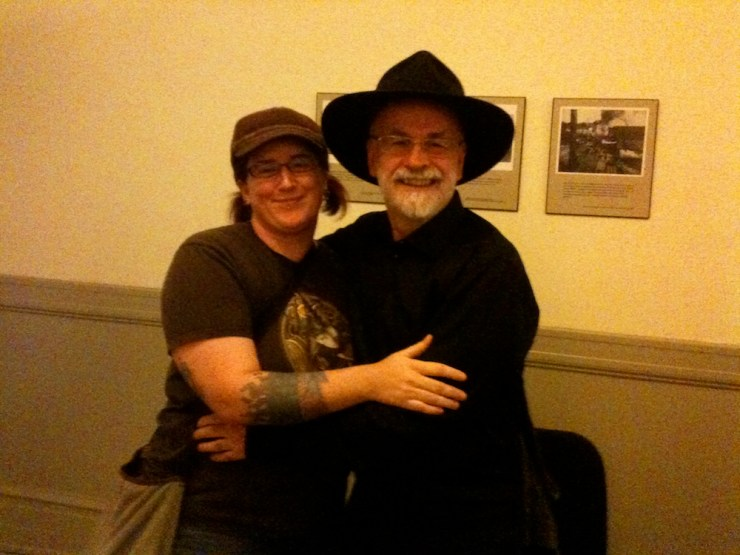 Lish McBride Terry Pratchett hug meeting in person fan story