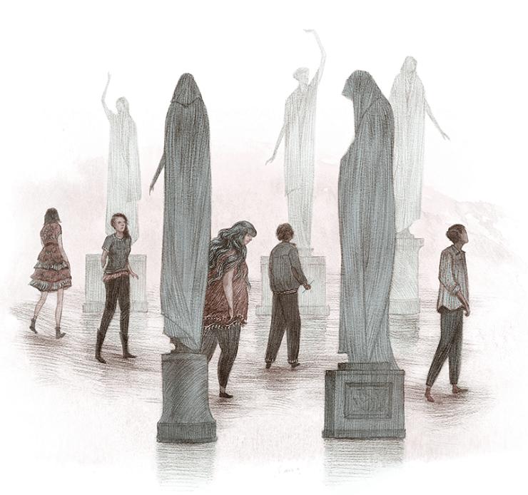 Rovina Cai Beneath the Sugar Sky illustration characters