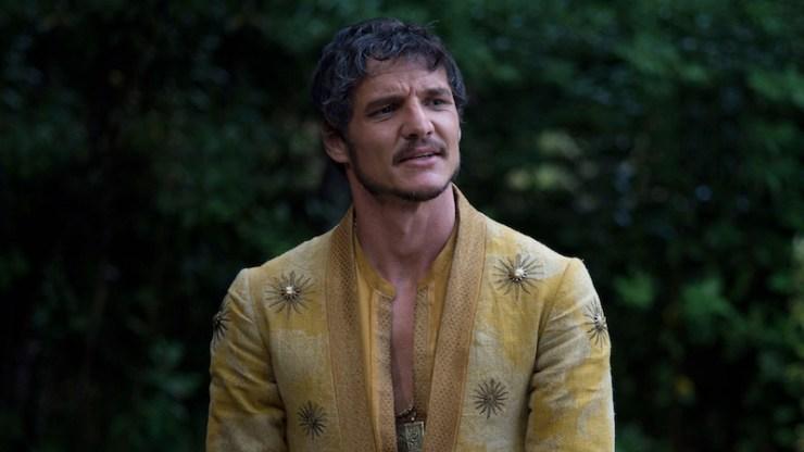 Oberyn Martell golden robes Supreme Leader Snoke lookalike