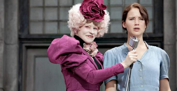 Effie Trinket and Katniss Everdeen the Hunger Games