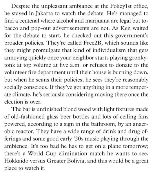 Excerpt from Malka Older's Infomocracy