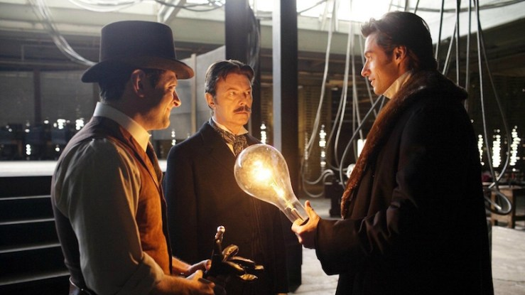 The Prestige Nikola Tesla David Bowie fictionalized versions of real-life scientists mathematicians inventors Christopher Nolan