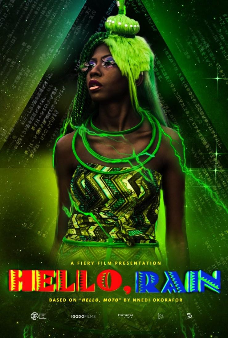 Hello, Rain character posters Philo Nnedi Okorafor