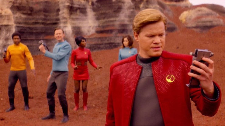 "Black Mirror ""USS Callister"" television review Star Trek homage tropes critique male nerd fantasies"